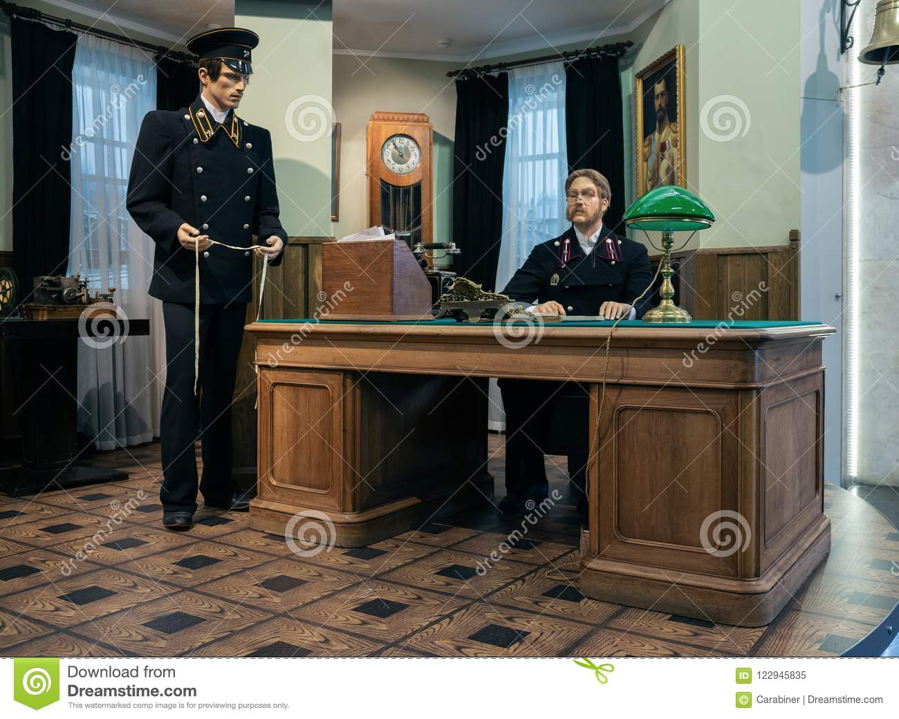 Century Office Office Chair Moscow Russia June 3 2018 Reconstruction Of The Events Of The 19th Century The Office Of The Railway Station In Russia Homeideasmagcom Reconstruction Of The Events Of The 19th Century The Office Of