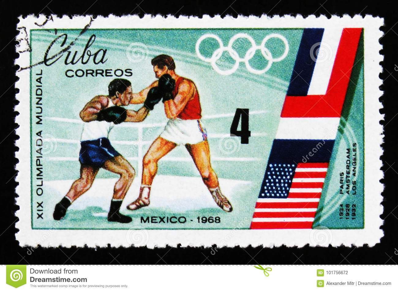 Boxing, Olympic games in Mexico, circa 1968