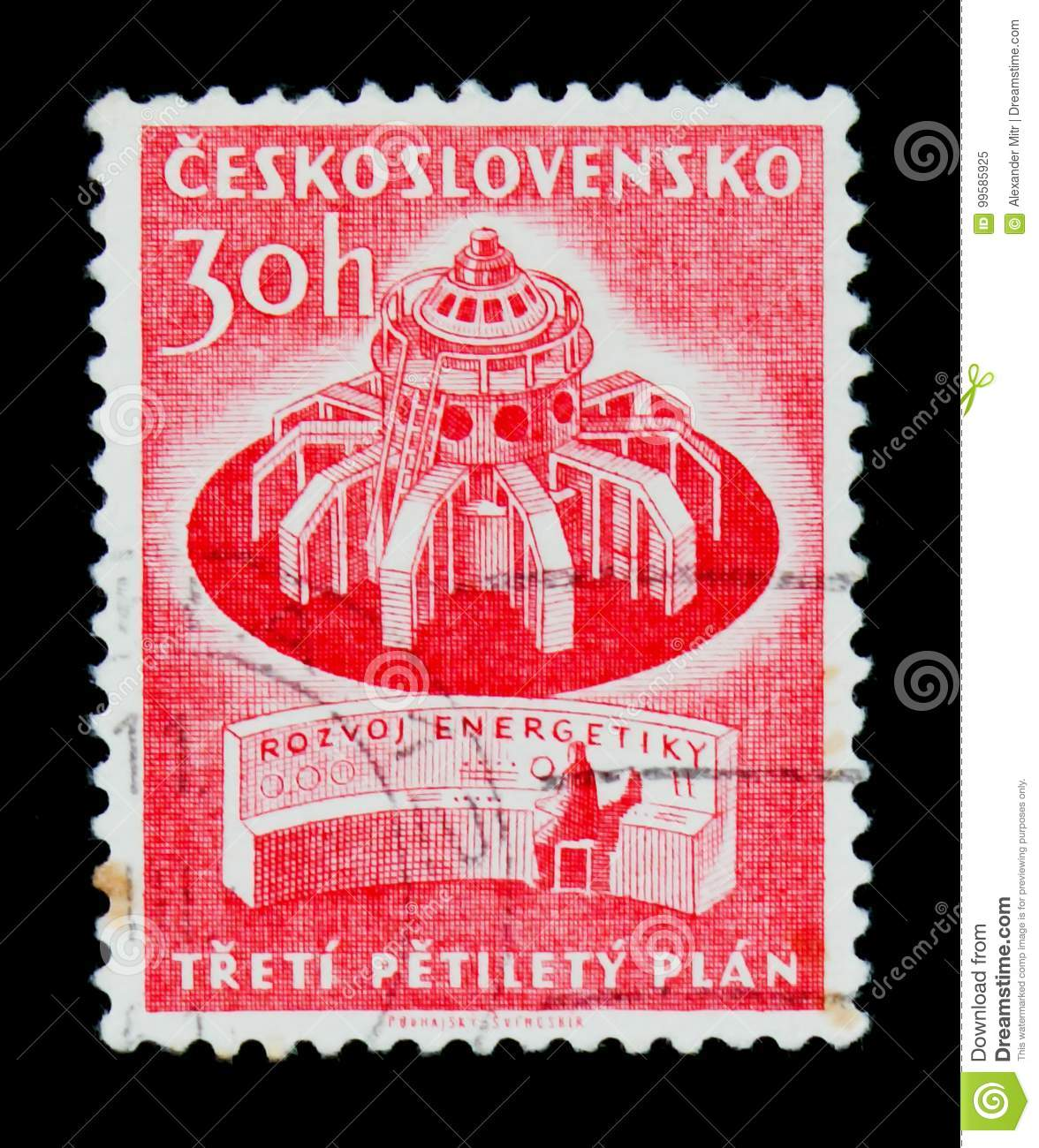 MOSCOW, RUSSIA - JUNE 20, 2017: A Stamp Printed In