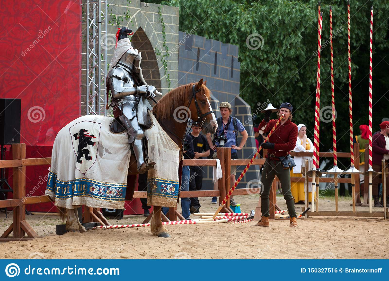 Tournament Of St  George, Jousting Competitions, Knights On
