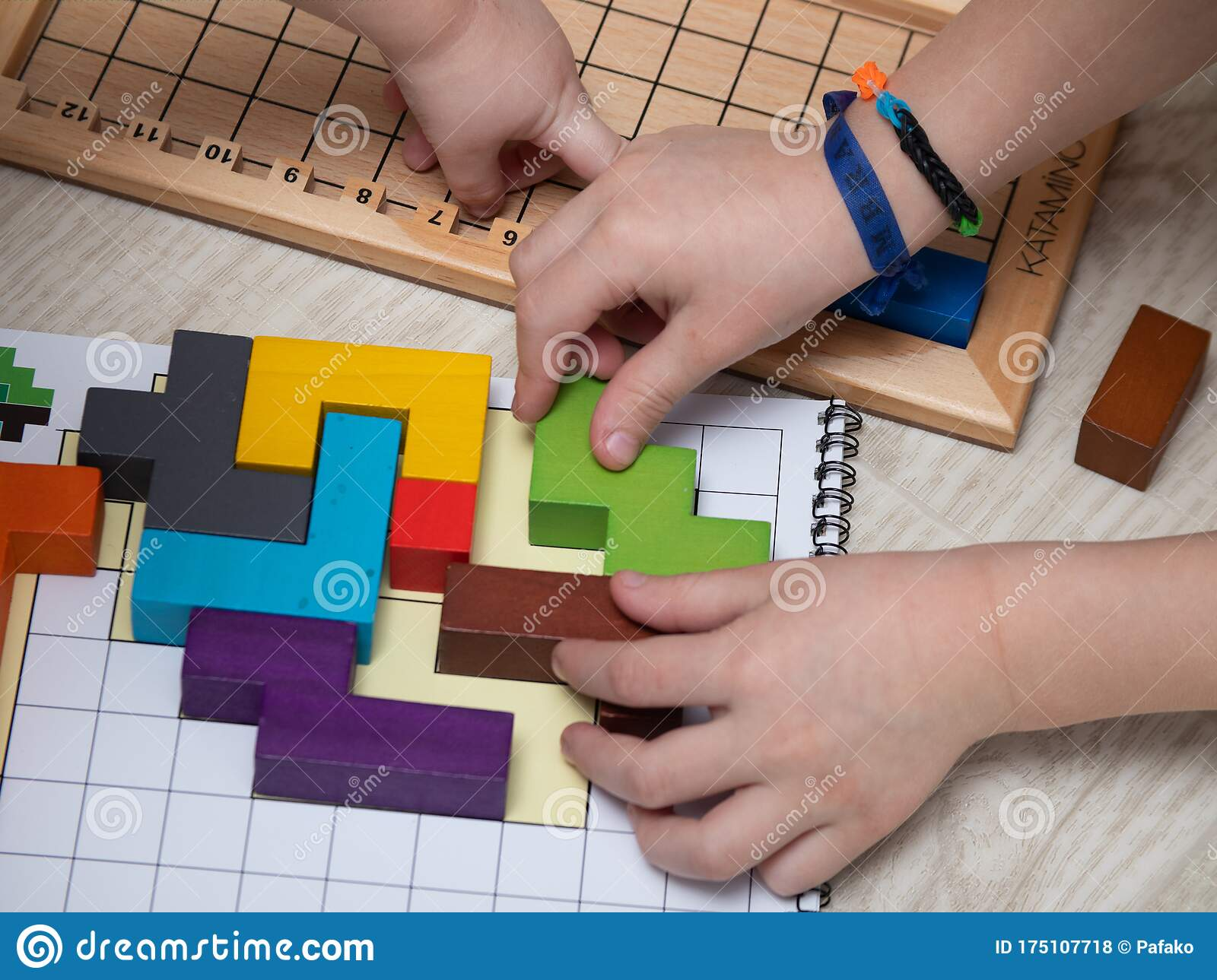 Moscow Russia March 3 2020 Katamino Is A Board Puzzle Game Children Play A Board Game Educational Games For Children Editorial Stock Photo Image Of Editorial Background 175107718