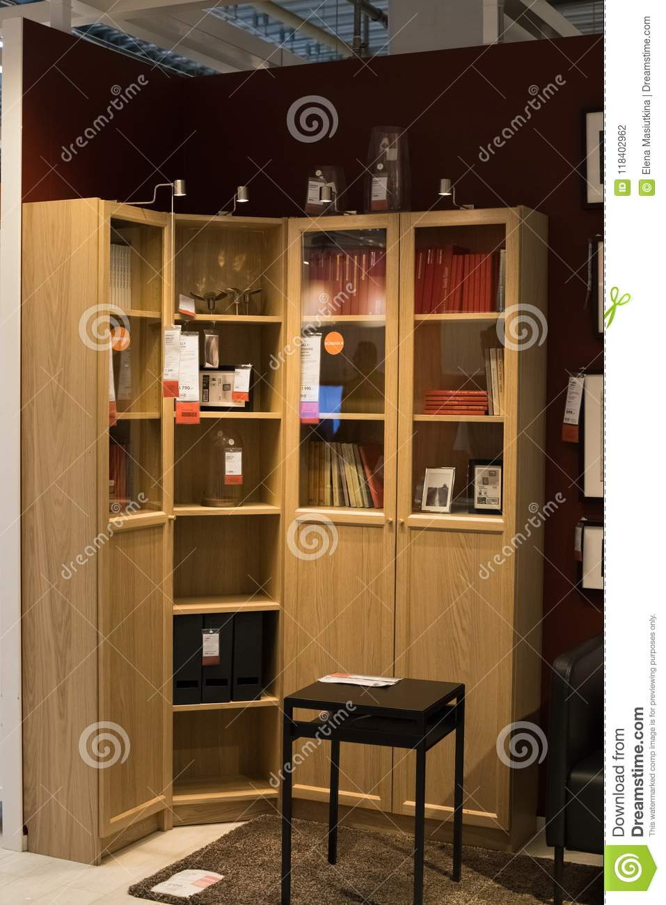 Moscow Russia March 25 2018 Sample Modern Furniture Cabinet