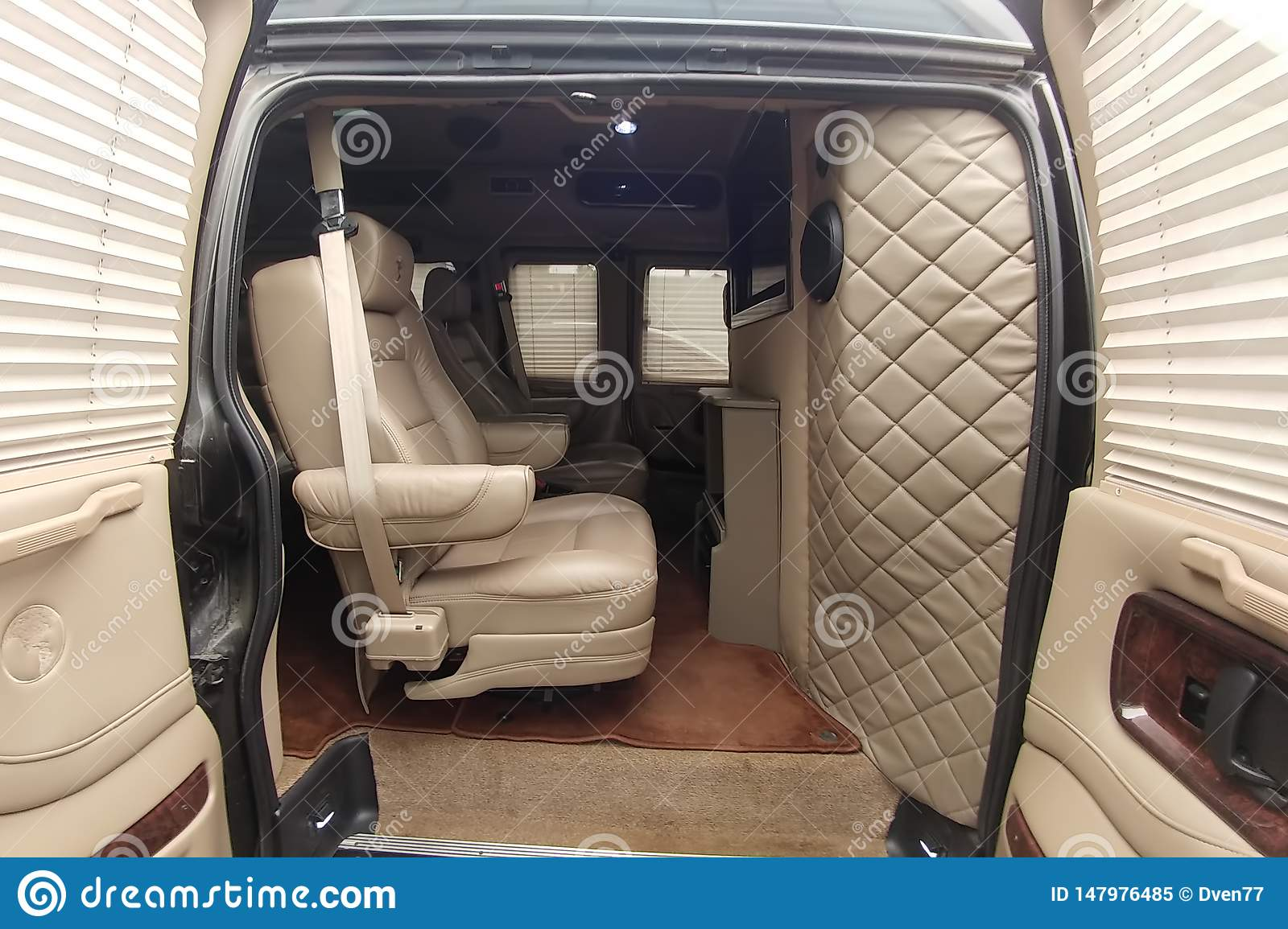 Moscow Russia May 2 2019 Gmc Savana Chevrolet Express Tuning Interior Custom Tuned Interior With Telephone Sound System Editorial Image Image Of Passenger Chevrolet 147976485