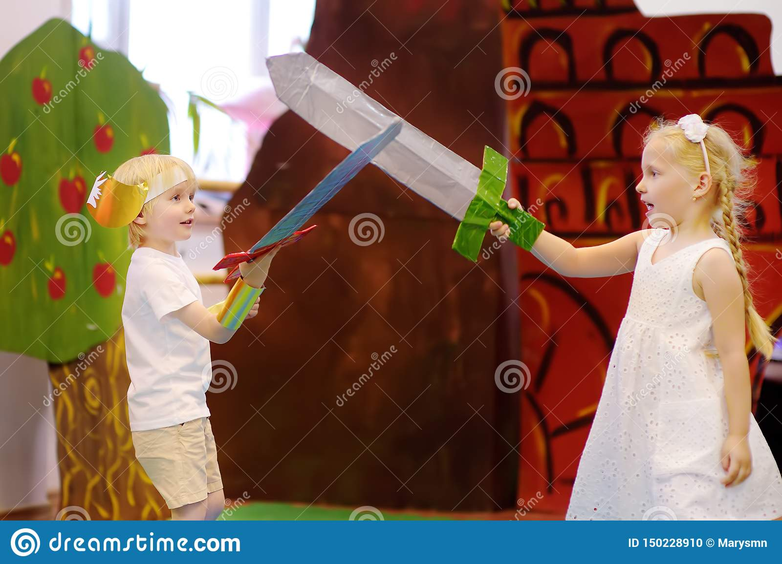 Moscow, Russia - 25 May , 2019: Little Kids Involved In