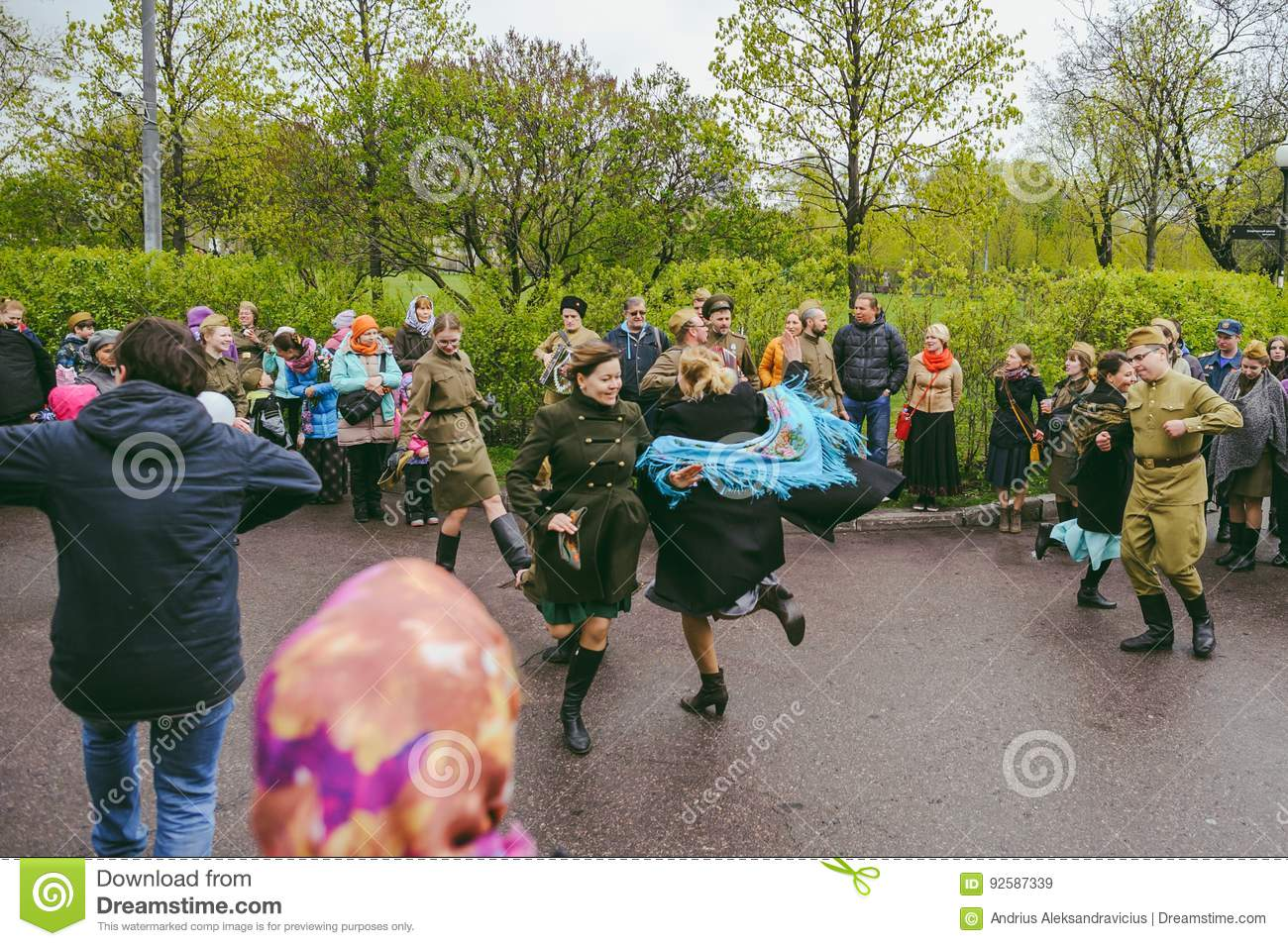 Victory Day Events In Moscow, Russia Editorial Stock Image