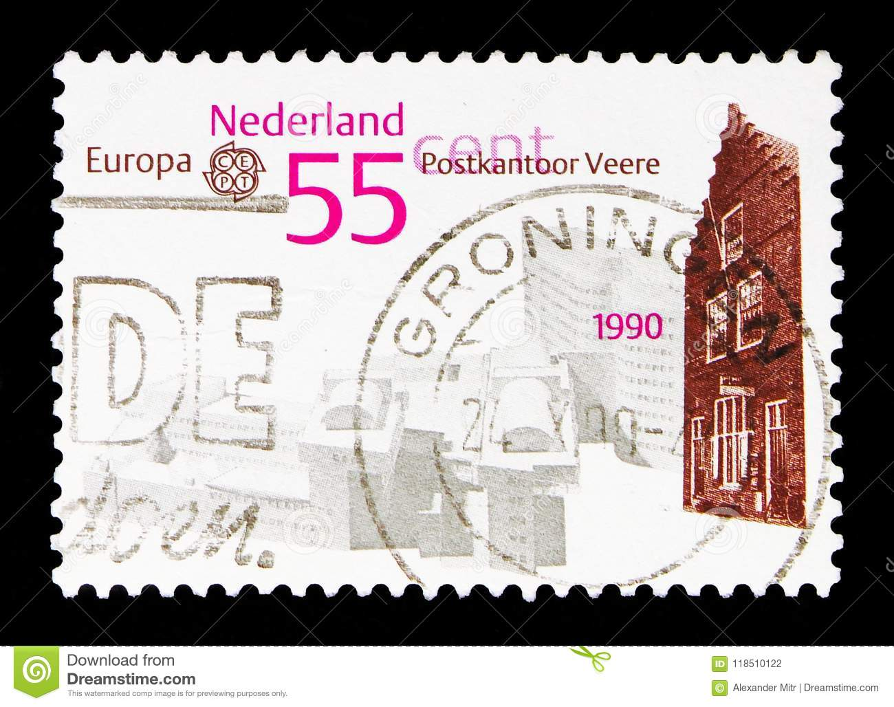 Europa Cept Architecture United Kingdom 1990 Post Offices Stamps