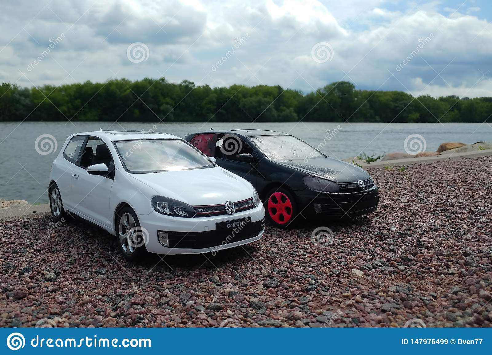 What Does Gti Stand For >> Moscow Russia May 03 2019 Two Toy Cars In River Park 2