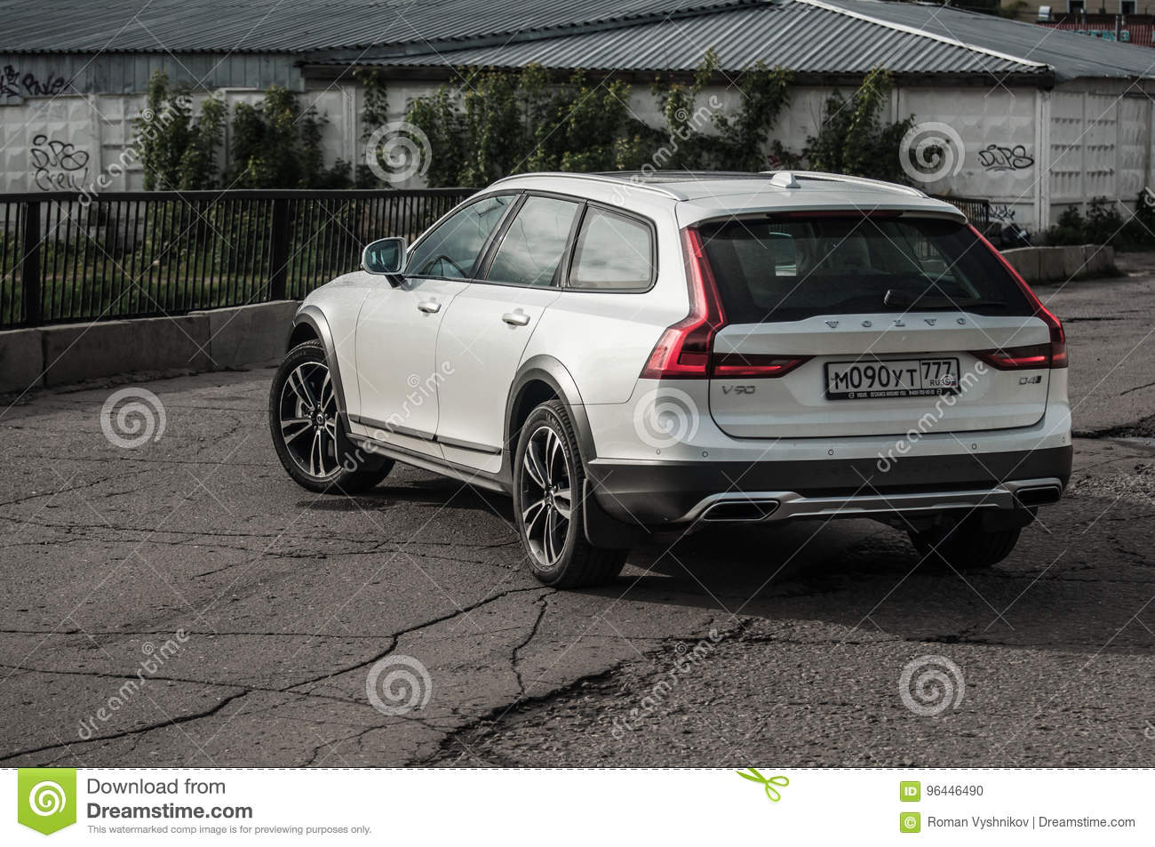 Moscow Russia May 3 2017 Volvo V90 Cross Country Front Side