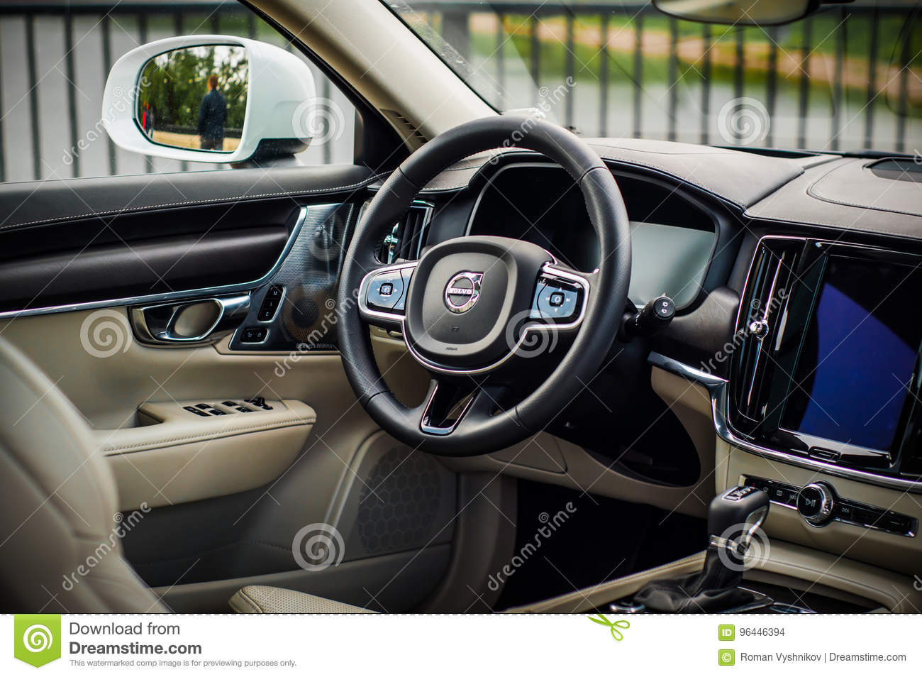 Moscow Russia May 3 2017 Volvo V90 Cross Country Interior View Test Of New Volvo V90 Cross Country This Car Is Awd Suv With Editorial Stock Image Image Of Summer Editorial 96446394