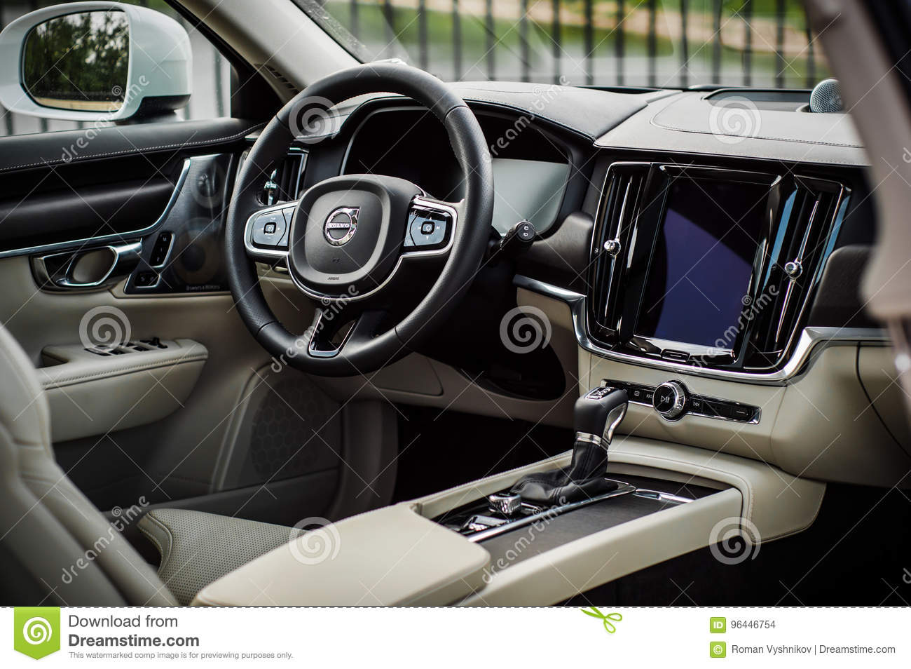 Moscow Russia May 3 2017 Volvo V90 Cross Country Interior View Test Of New Volvo V90 Cross Country This Car Is Awd Suv With Editorial Stock Image Image Of Automobile City 96446754