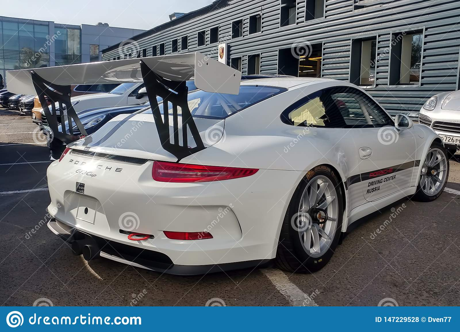 Moscow Russia May 05 2019 White Porsche 911 Gt3 Rs Cup Parked On The Street Super Tuned And Full Modified Racing Car Right Editorial Stock Photo Image Of Modern 2019 147229528