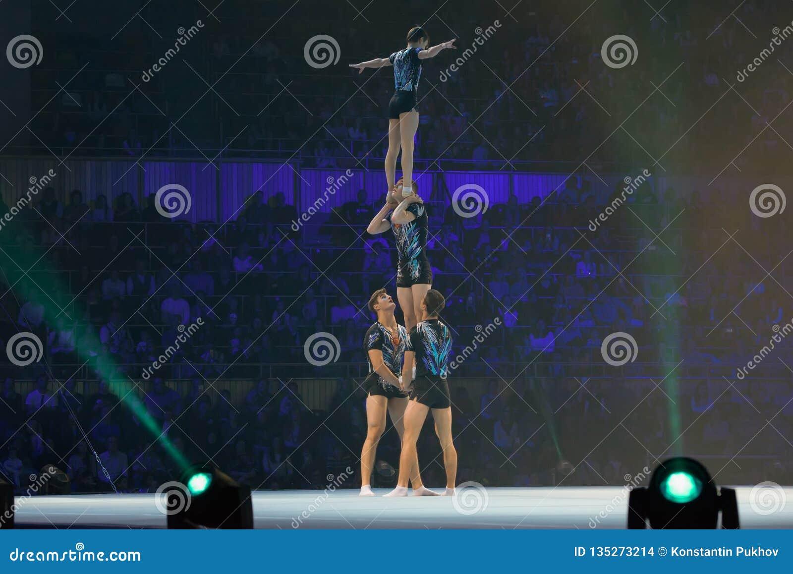 Gymnastic pyramid editorial stock image  Image of executive - 135273214