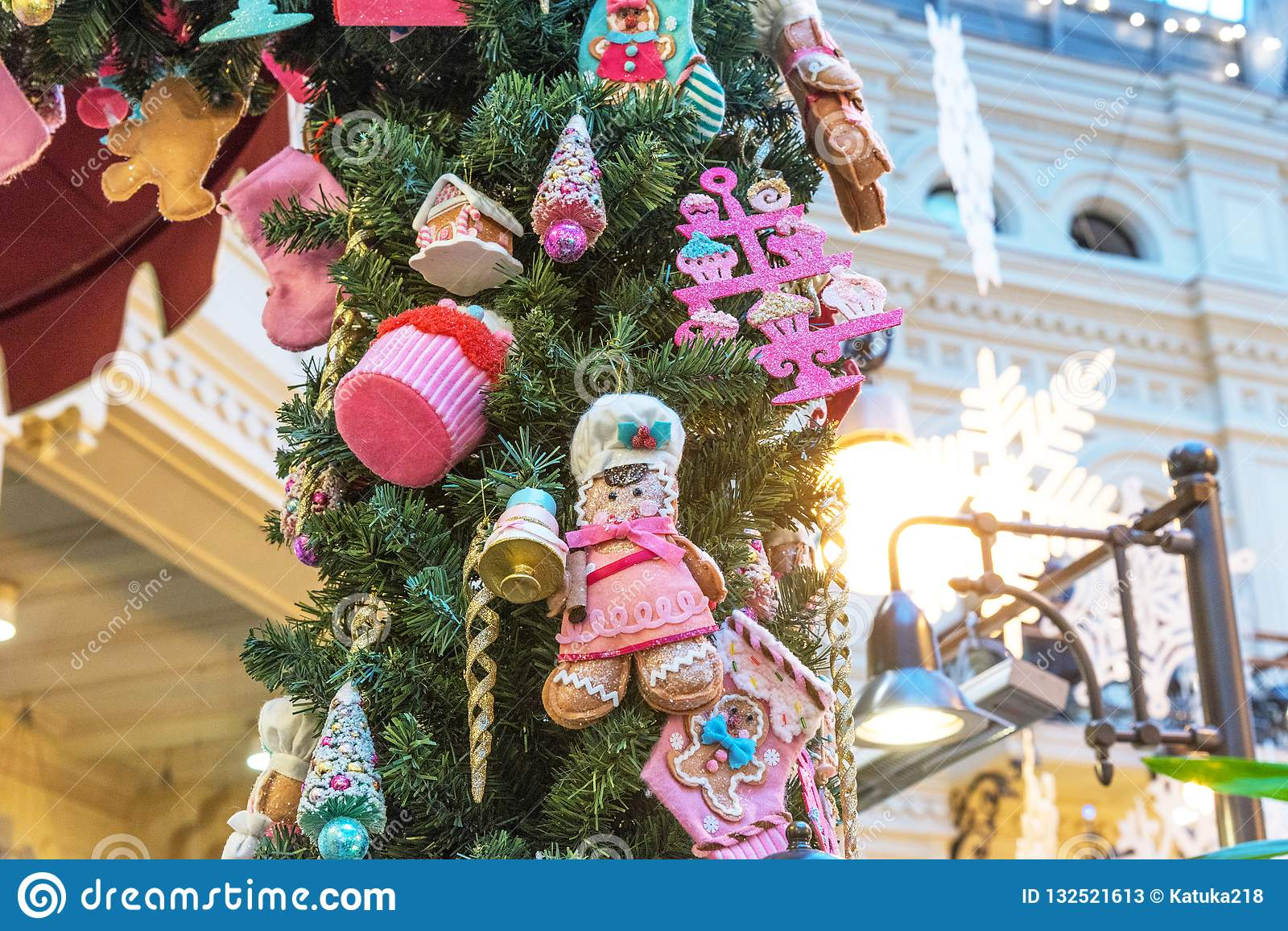 Russia Christmas Ornaments.Moscow Russia November 24 2018 New Year And Christmas