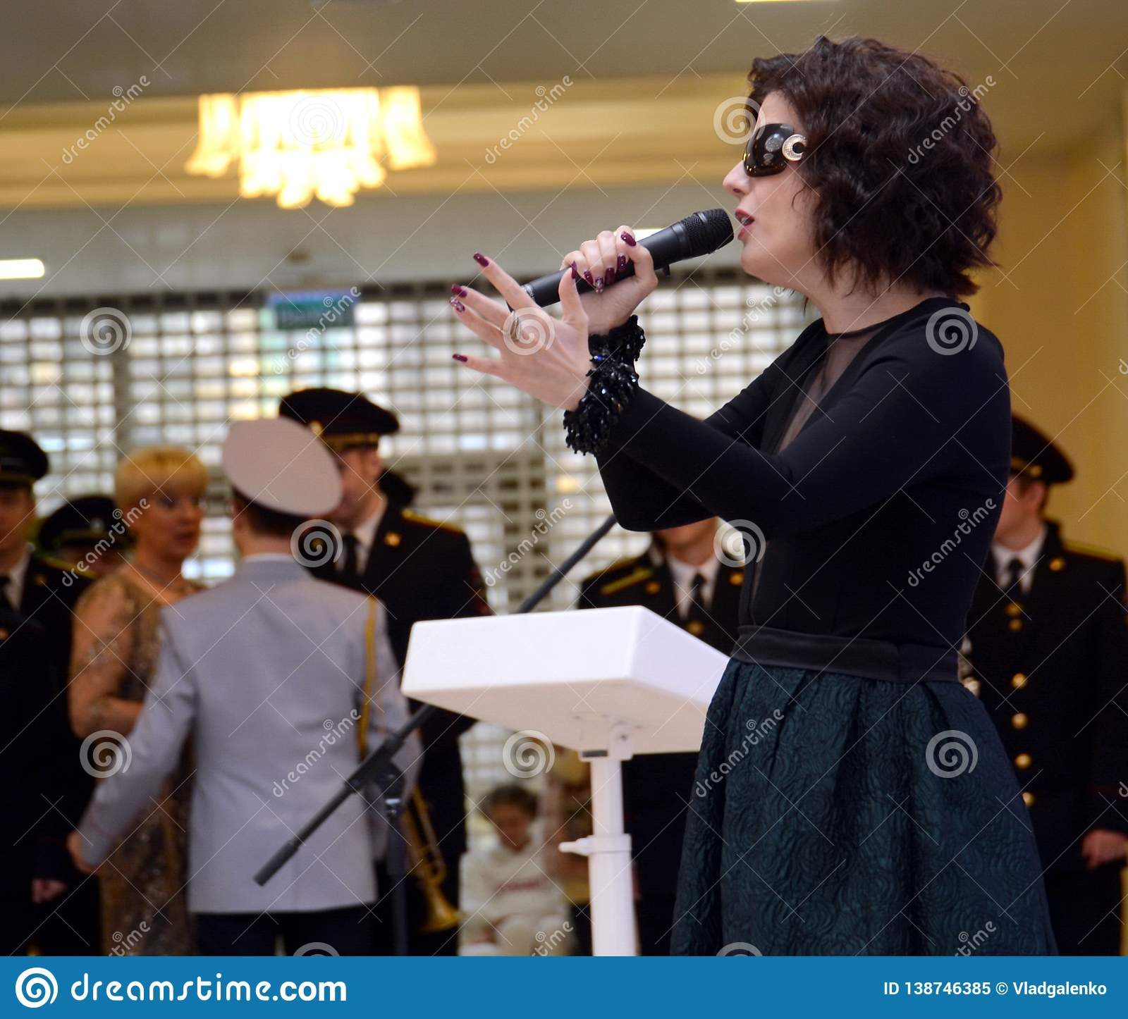 Singer Diana Gurtskaya in the Russian Federation Council of the Federal Assembly