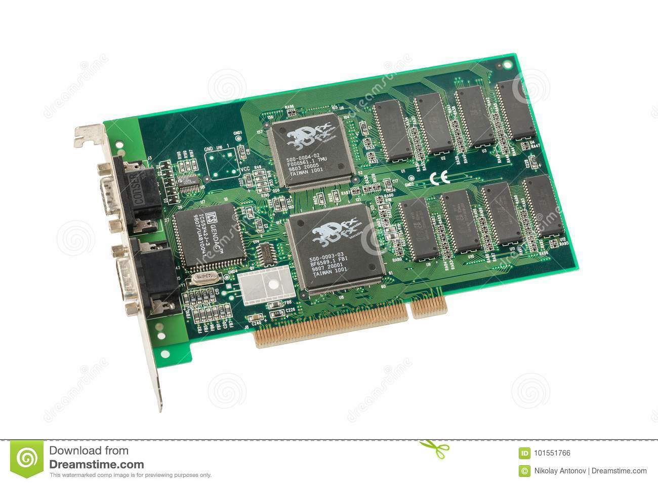 3d accelerator card with dual-tmu support