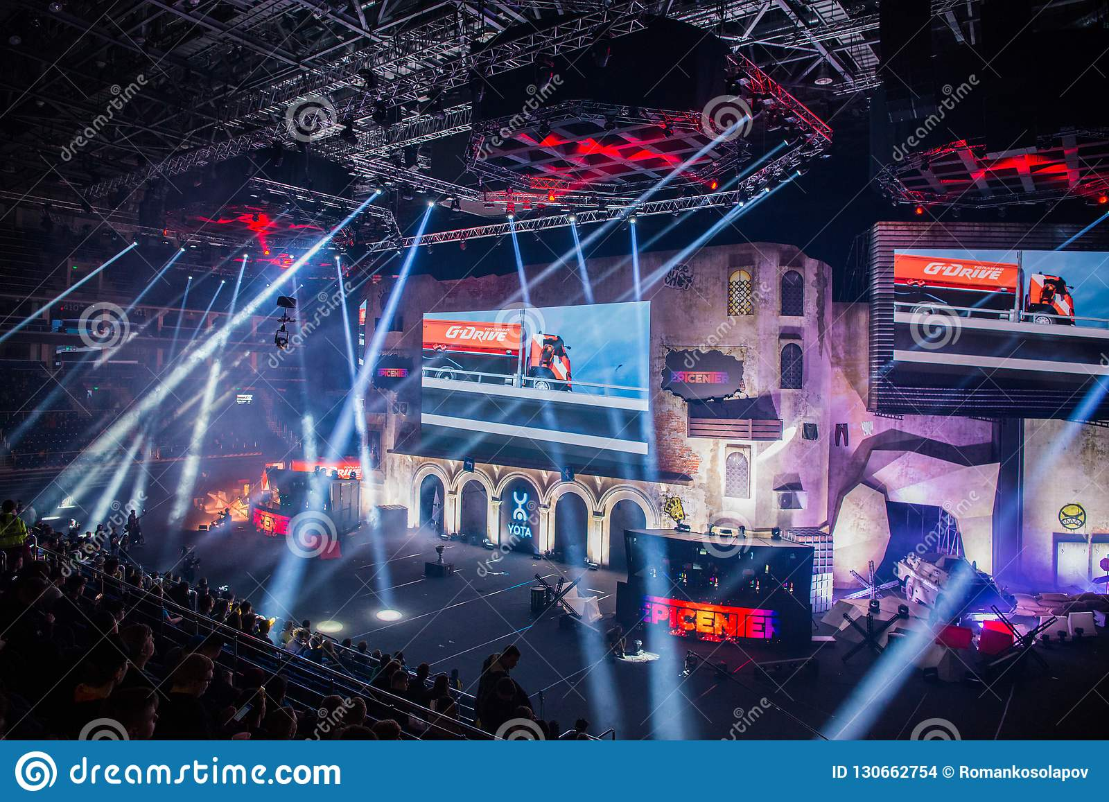 MOSCOW, RUSSIA - OCTOBER 27 2018: EPICENTER Counter Strike