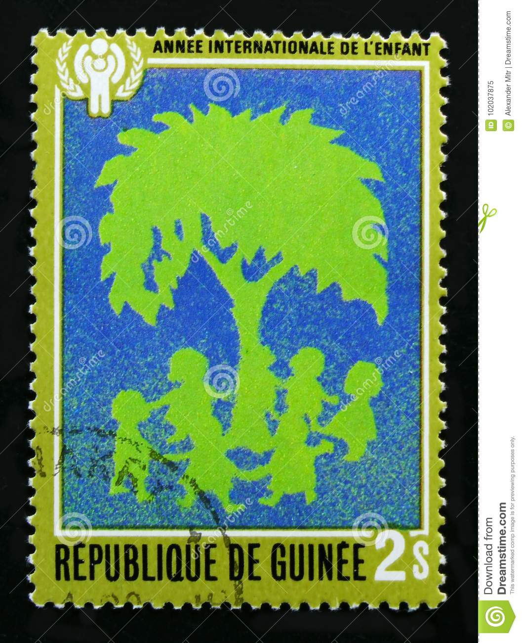 Guinea devoted to Year of the child, serie, circa 1980
