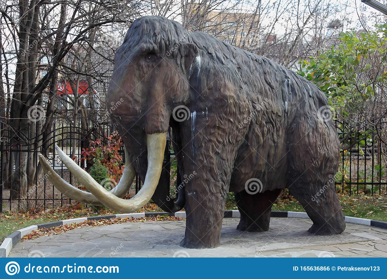 Moscow Russia October 28 2019 Statue Woolly Mammoth Editorial Photo Image Of Animals Fauna 165636866