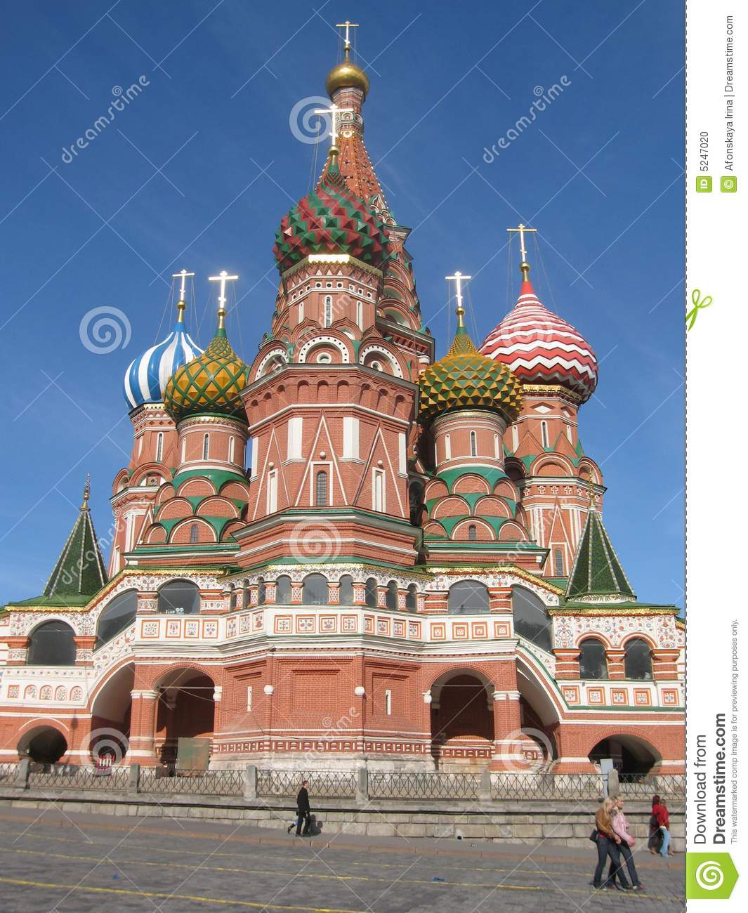 Moscow, russia, st.basil's (pokrovskiy) cathedral on red square near
