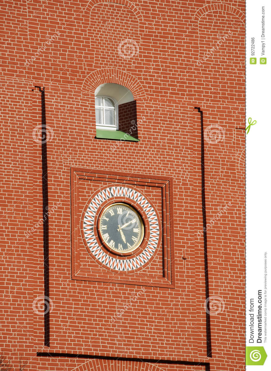 Moscow russian federal city russian federation russia editorial moscow 29042017 the clock of the troitskaya tower trinity tower one of the kremlin walls towers built in 1495 1499 by italian architect aloisio da amipublicfo Images