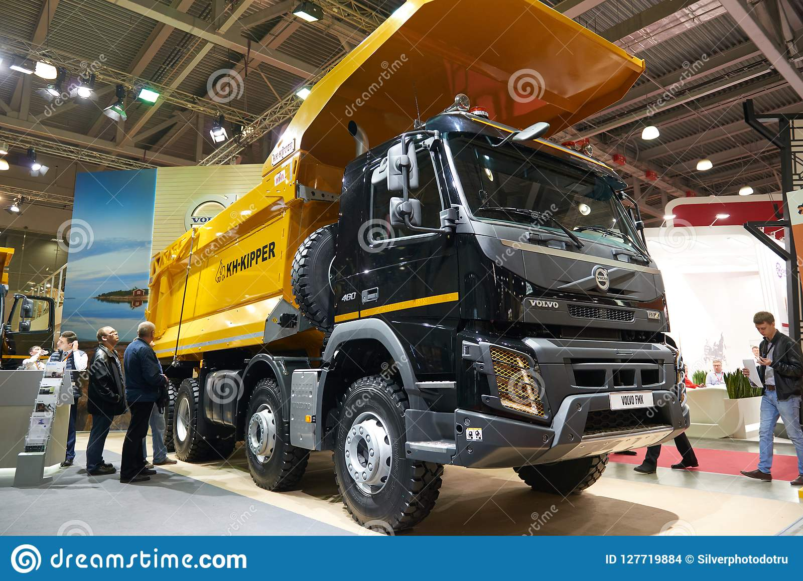 Moscow Sep 5 2017 New Volvo 460 Tipper Truck On Exhibition