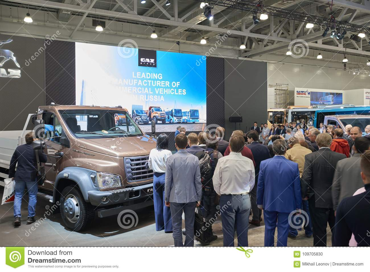 Exhibition Stand Transport : Moscow sep presentation at gaz group stand russian cars