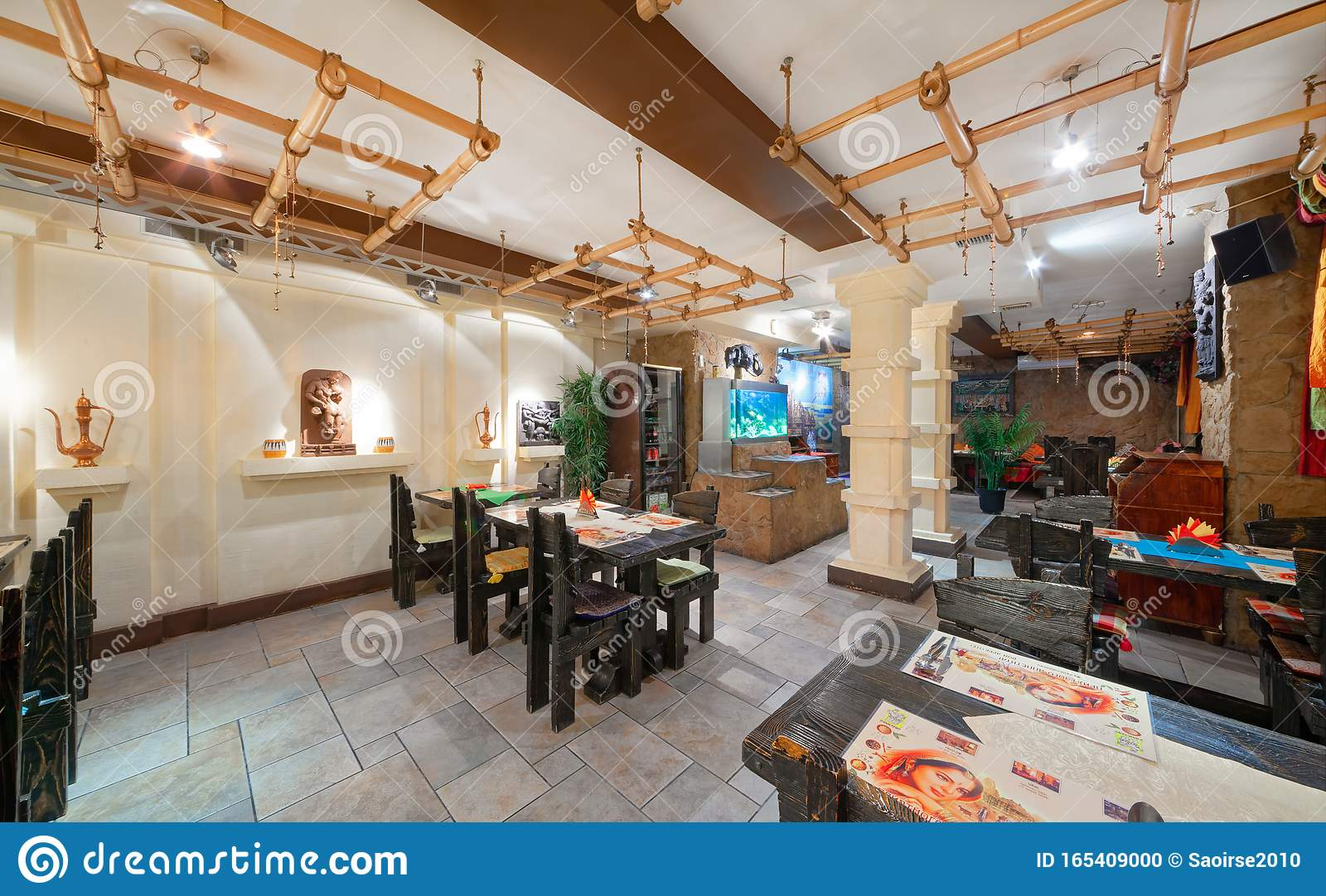 Moscow September 2014 Interior And Furnishings Of The Restaurant Of Indian Cuisine Editorial Image Image Of Atmospheric Moscow 165409000