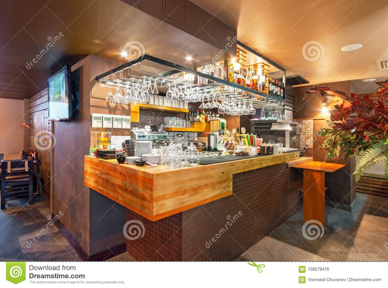 Moscow September 2014 Interior Of The Modern Japanese Restaurant Editorial Photo Image Of Dining Asian 109579476