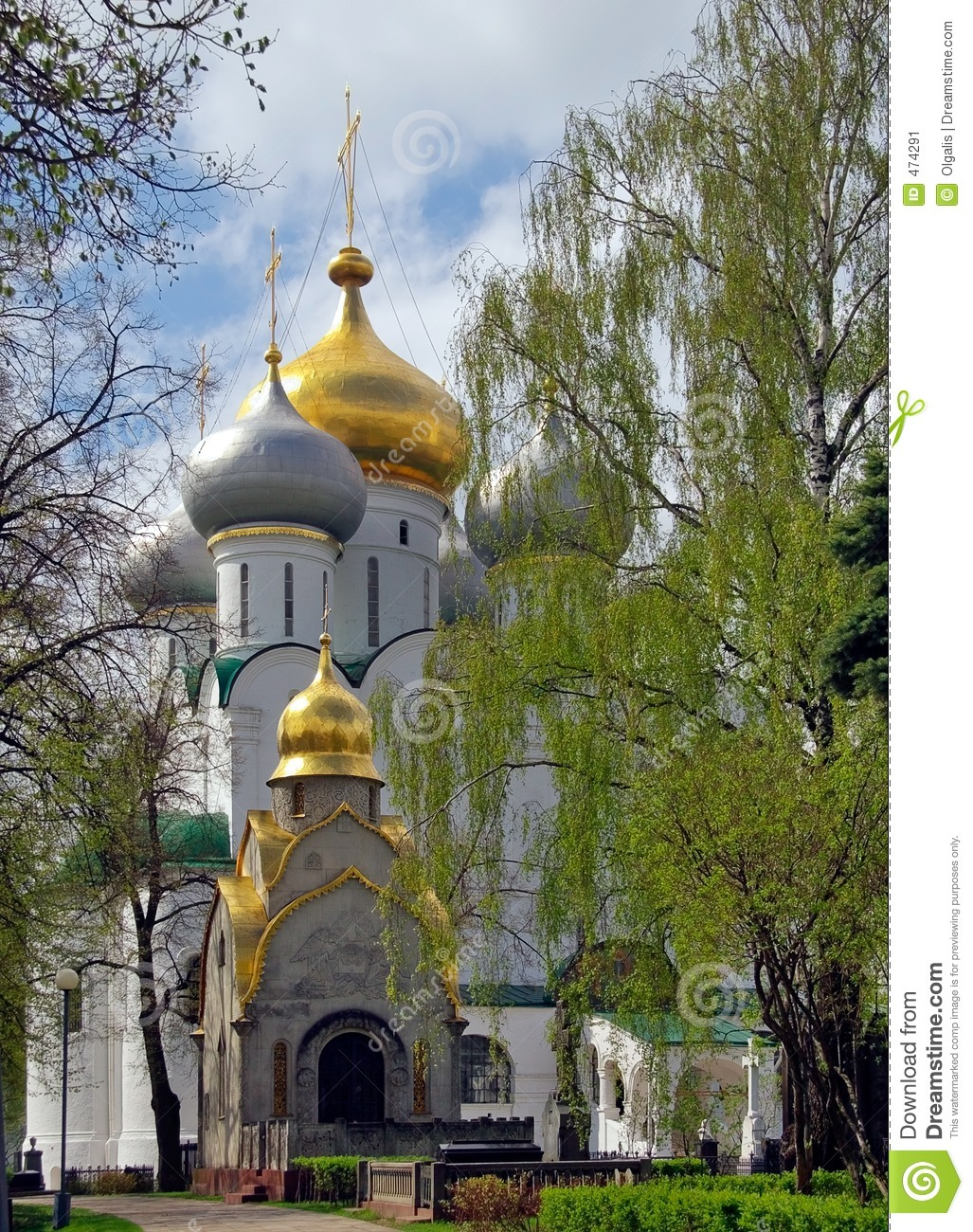 Download Moscow.Spring In  Novodevichij Monastyr Stock Image - Image of historical, frenzy: 474291