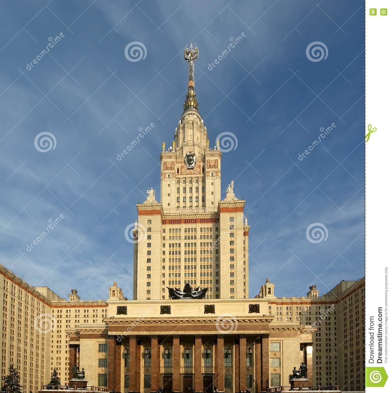Moscow (ID) United States  city photos gallery : Moscow State University Main Building Stock Images Image: 17898904