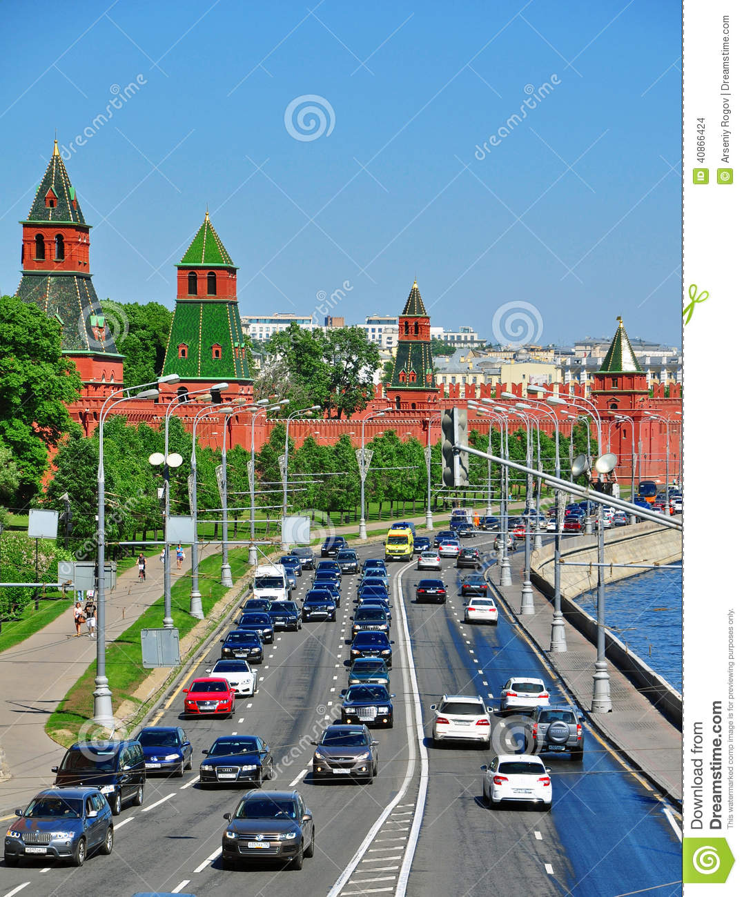 Moscow traffic jam