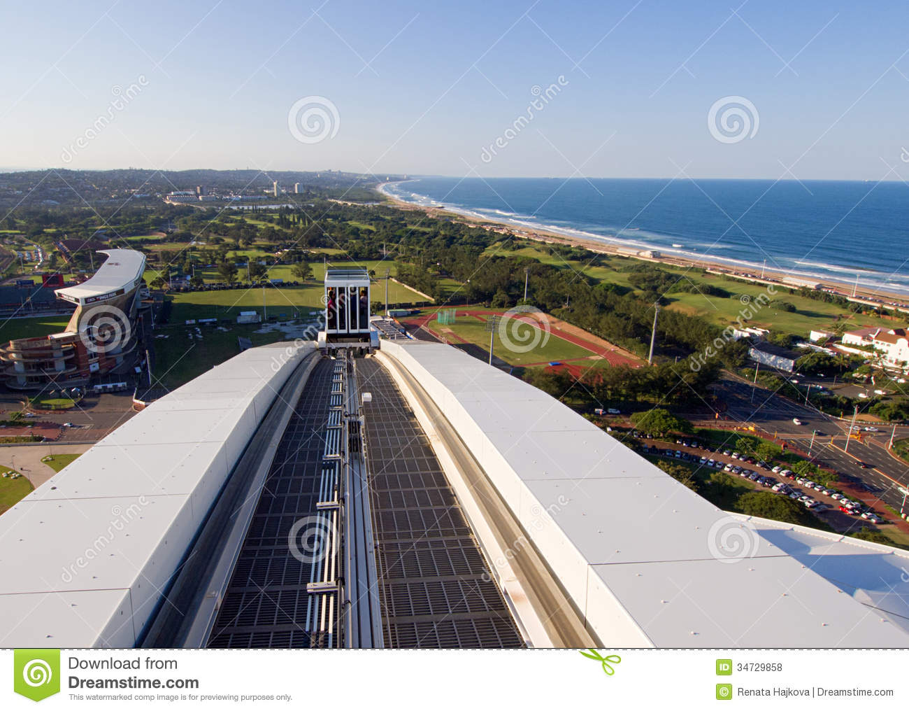 moses mabhida stadium editorial stock photo