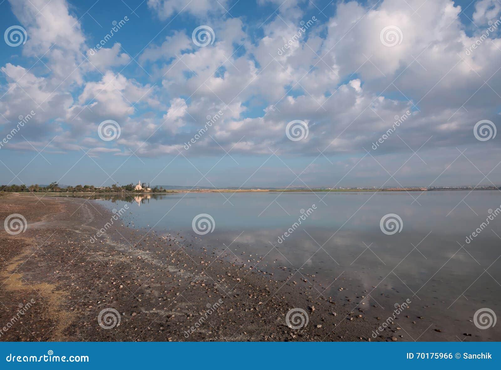 Moské på kanten av den salta sjön