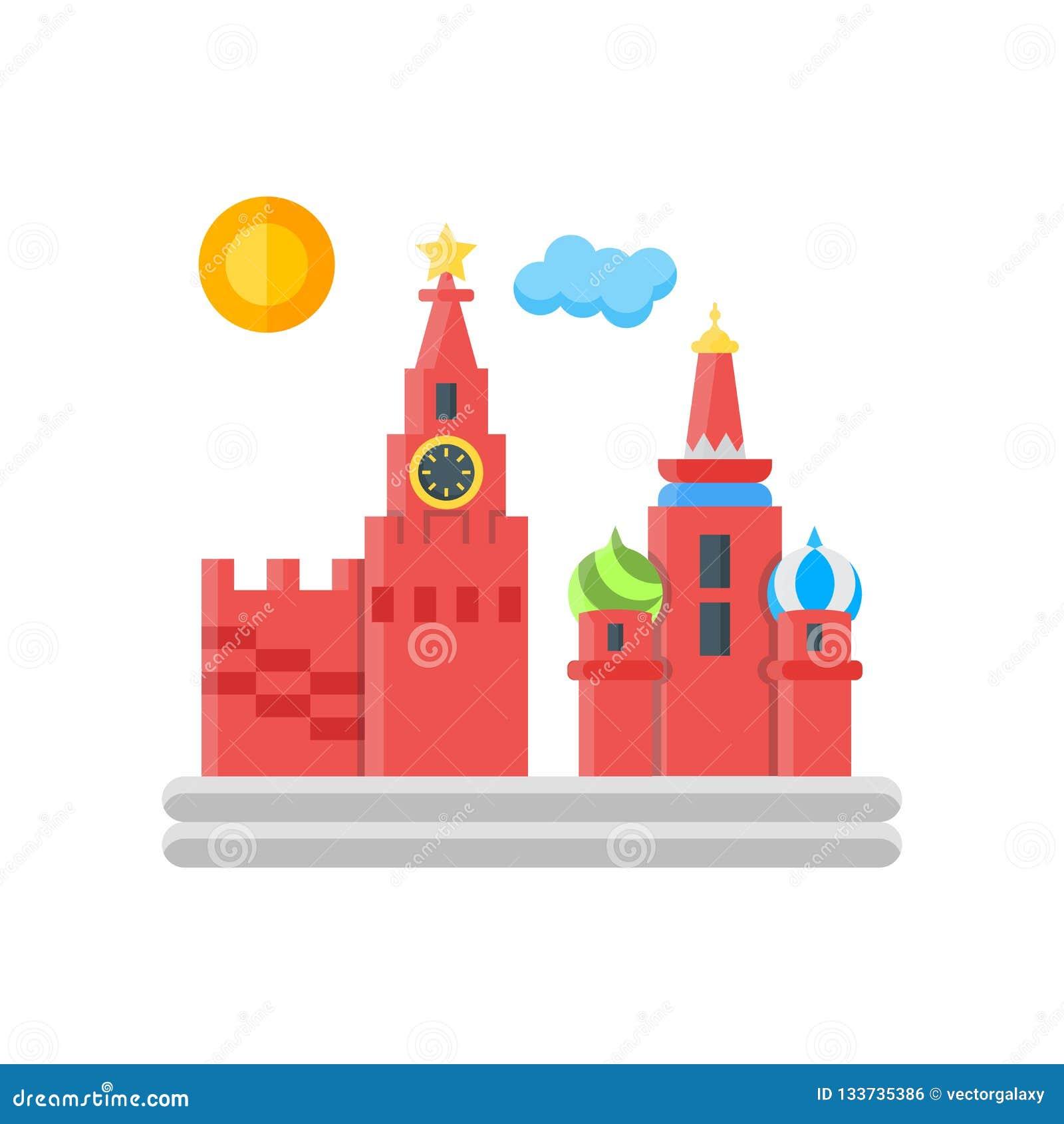 Moskau-Ikonenvektorzeichen und -symbol lokalisiert auf weißem Hintergrund