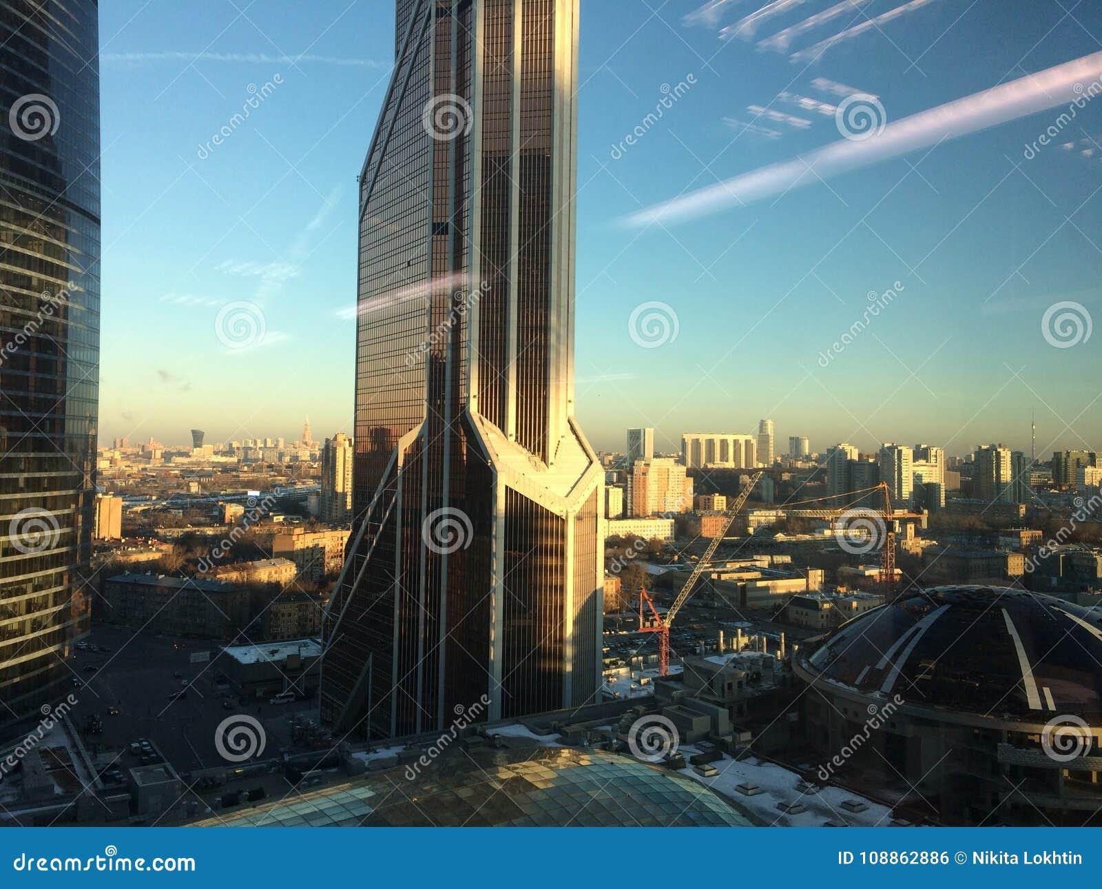Moskau-Stadtturm-Geschäftszentrum