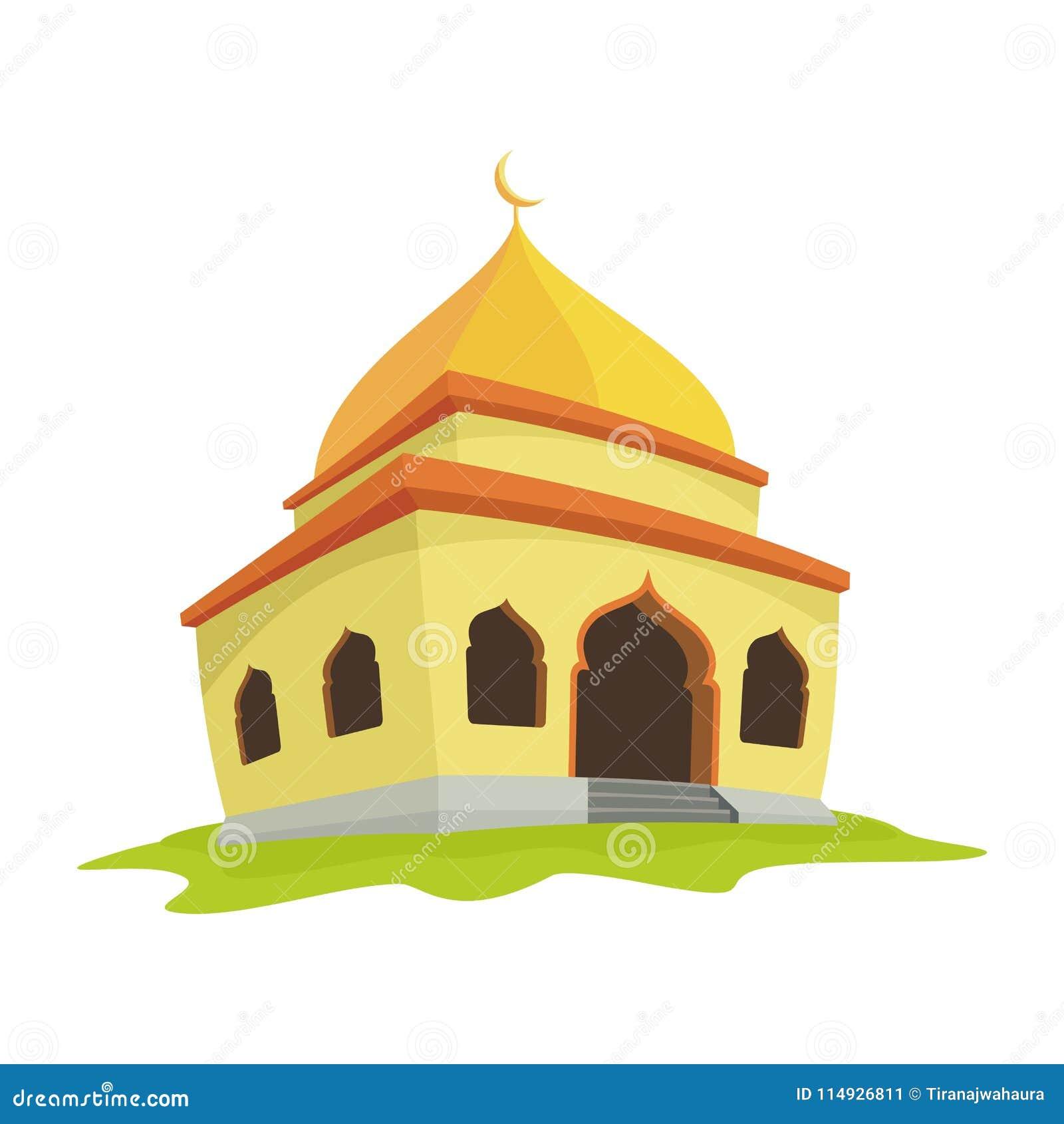 Moskeeillustratie met beeldverhaalstijl