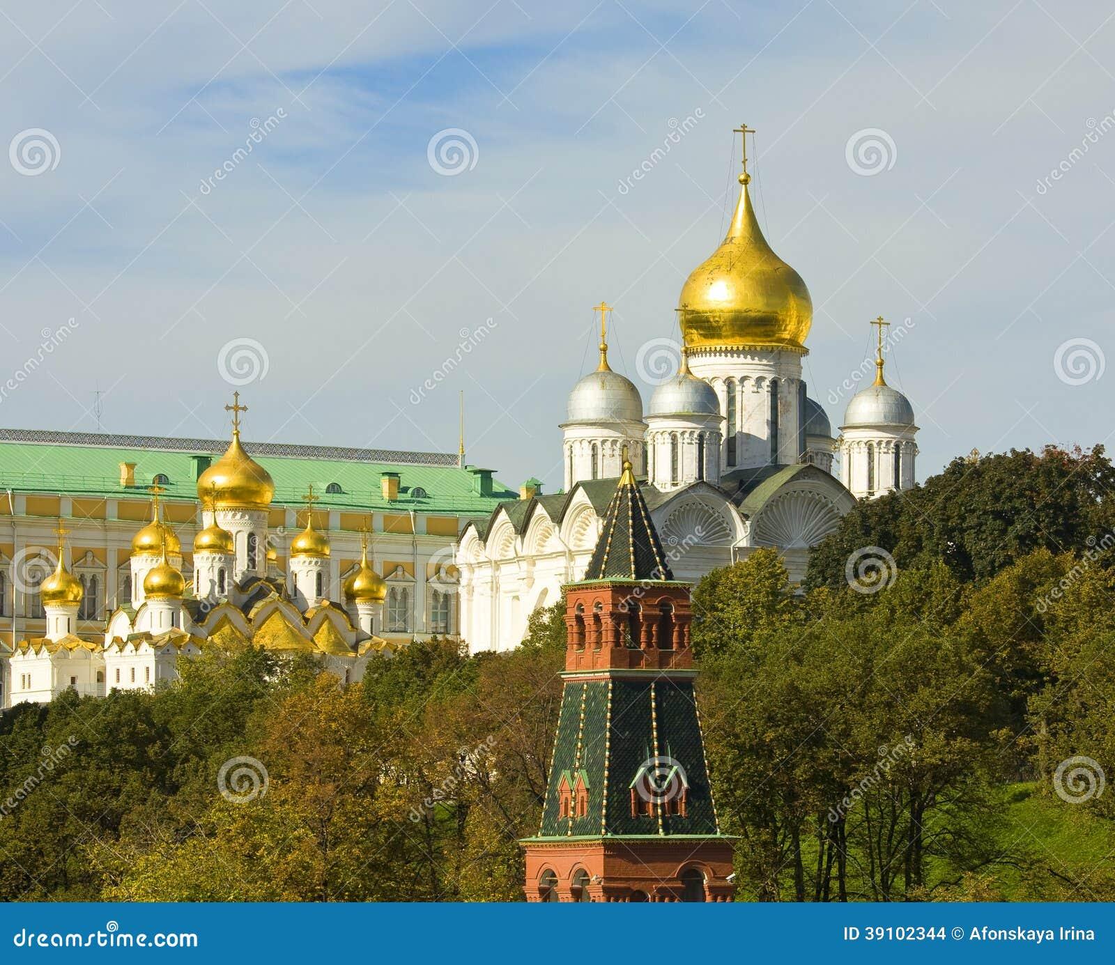 Moskou, de kathedralen van het Kremlin
