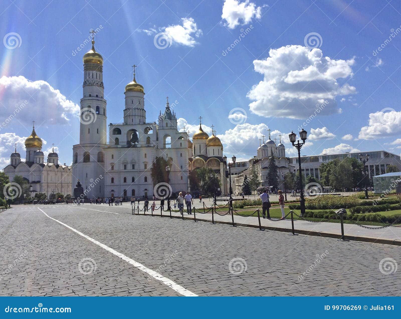 Moskou het Kremlin achter de muur