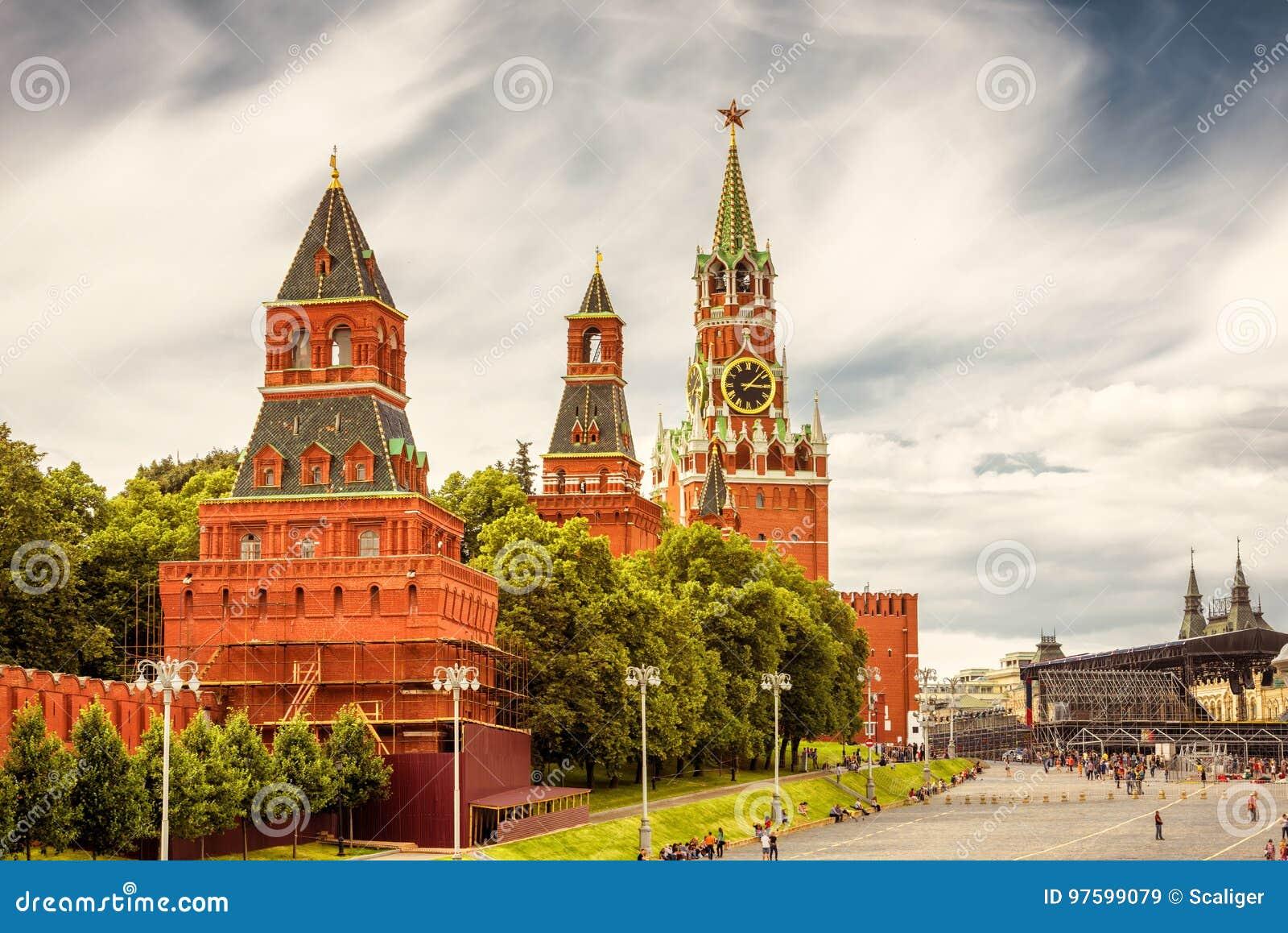 Moskou het Kremlin in Rusland