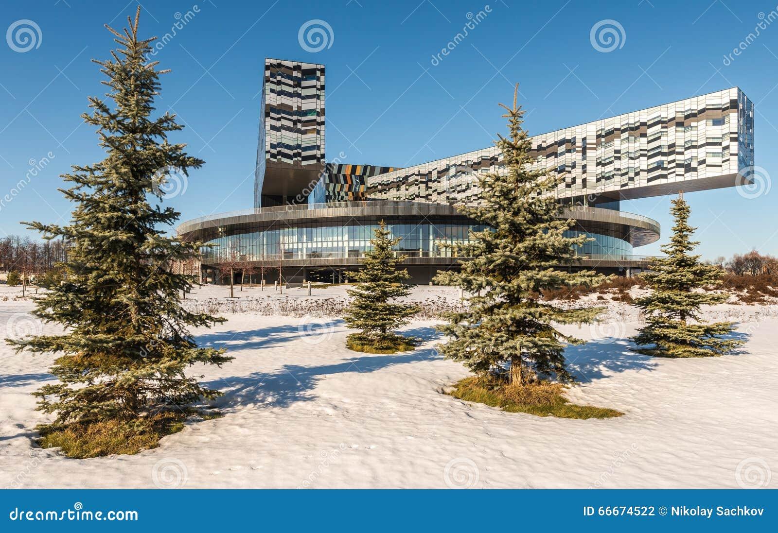 Moskvaskola av ledning SKOLKOVO i vintern