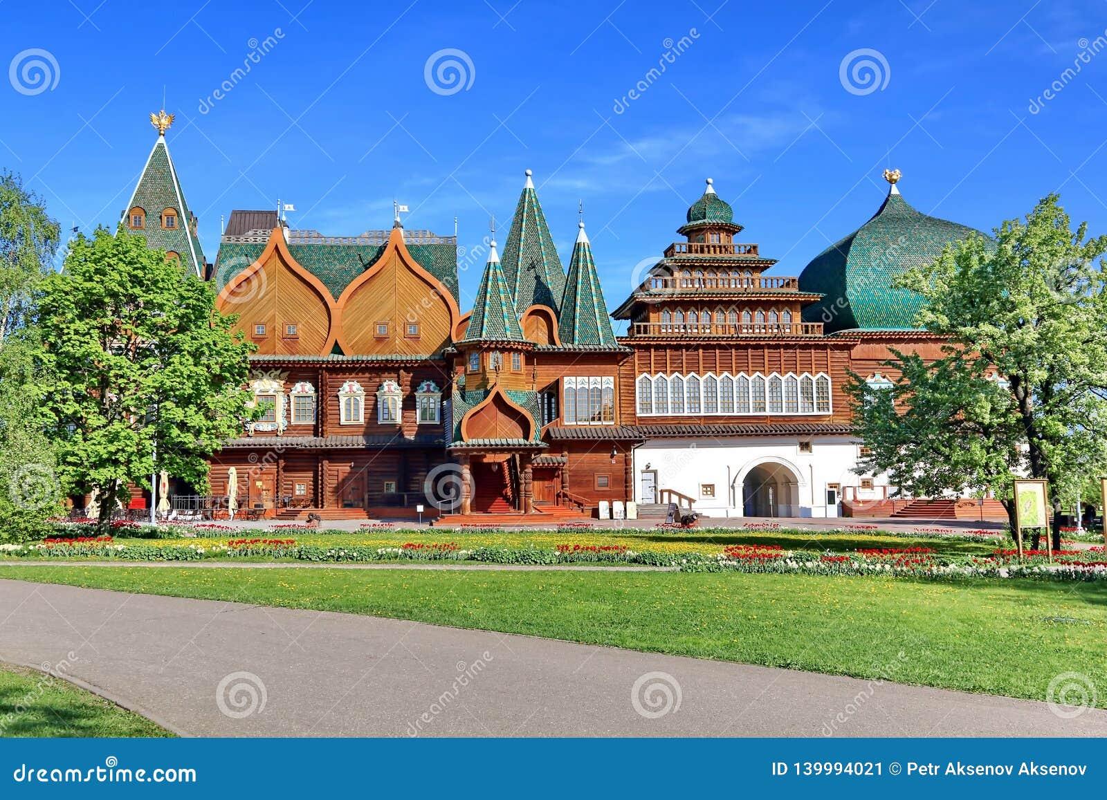 Moskwa Rosja, Maj, - 12, 2018: Pałac Tsar Alexei Mikhailovich w Kolomenskoye