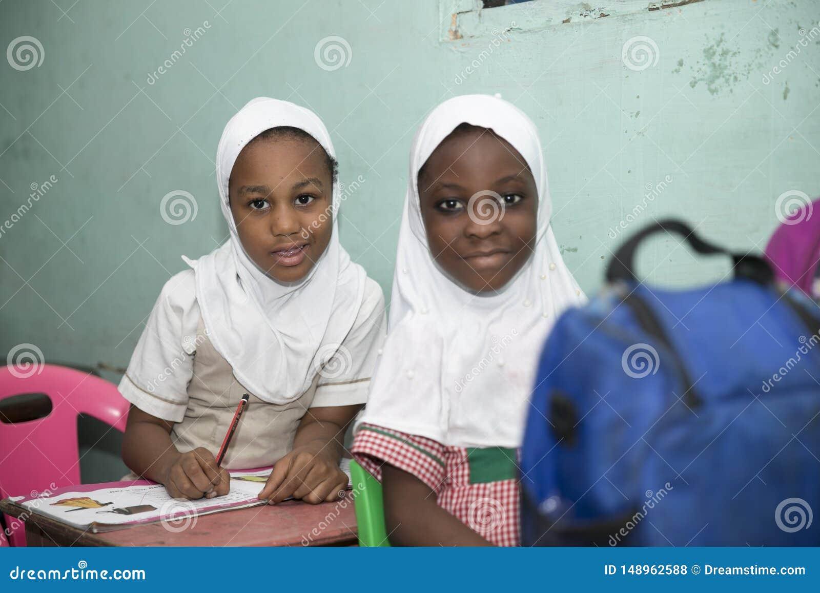 Moslemische Grundschule-Kinder von Ghana, West-Afrika