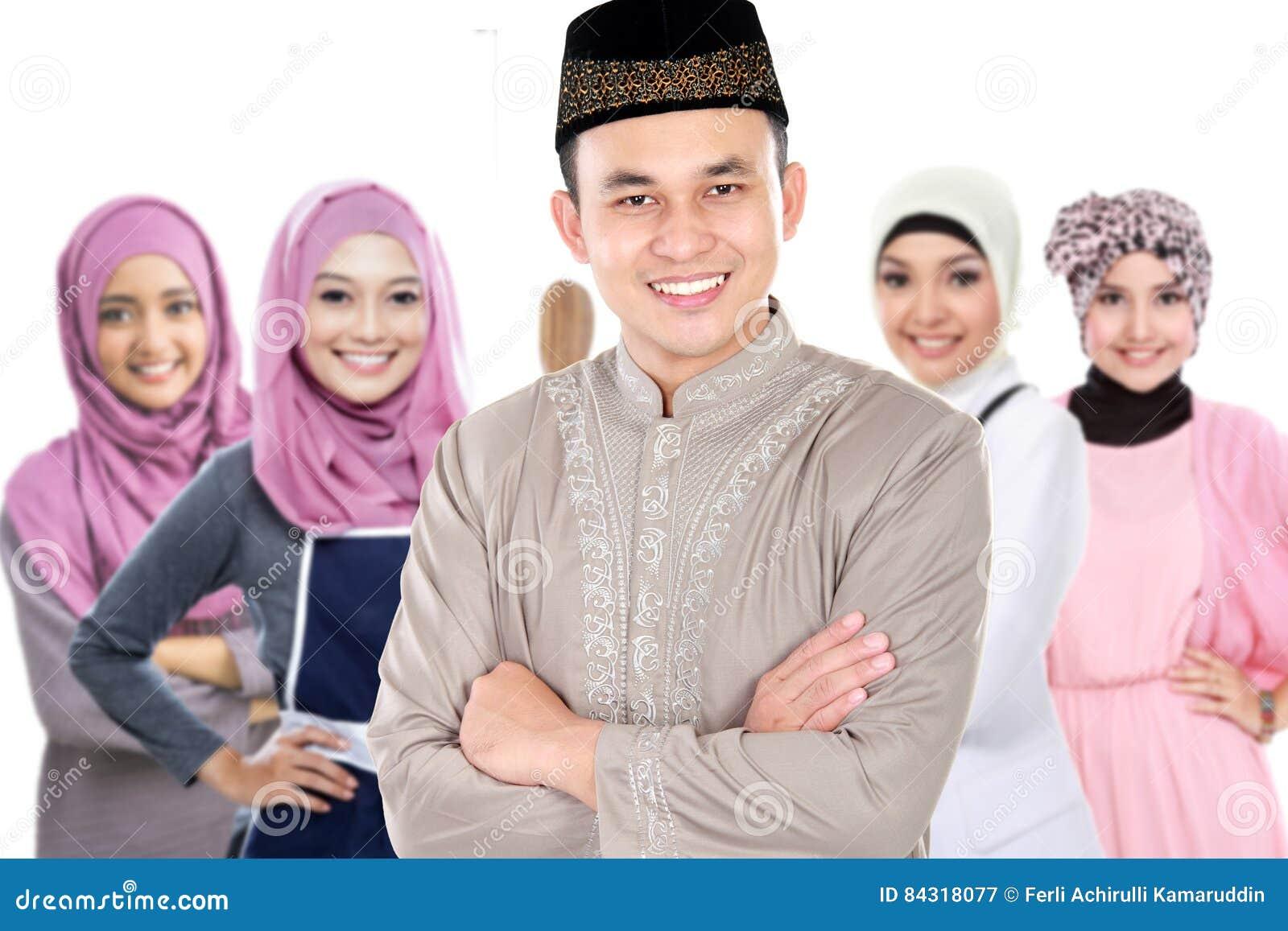 Moslemische Mannes- und Frauengruppe