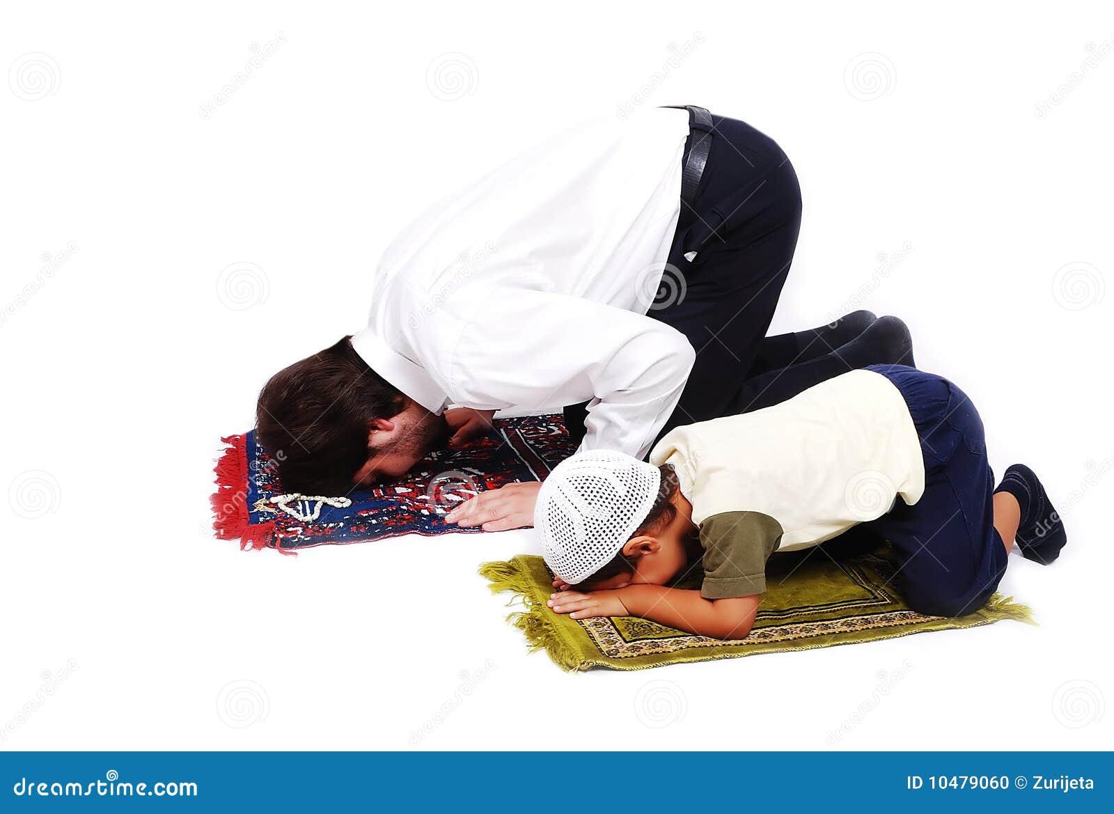 Moslim verering activites in de heilige maand van de Ramadan