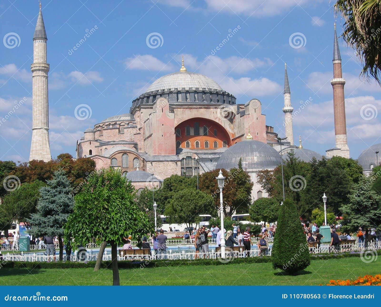 Mosquée de Hagia Sofia vers Istanbul en Turquie