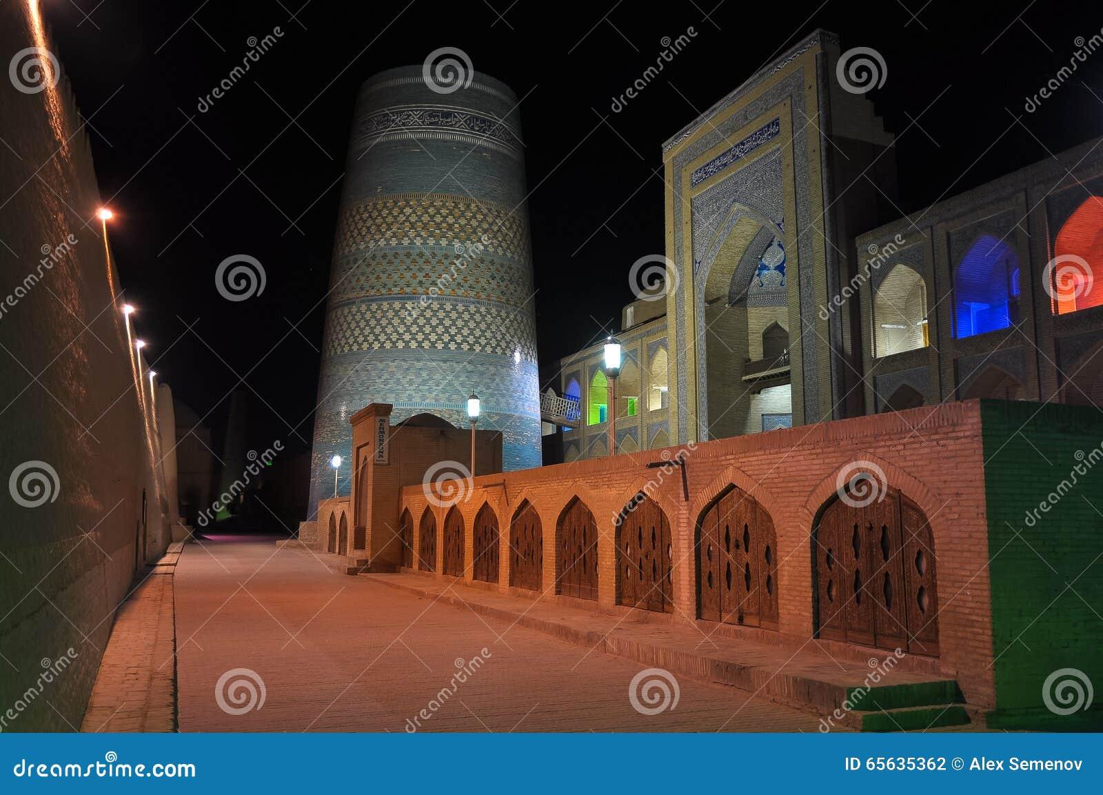 Mosquée médiévale dans la ville de Khiva, l Ouzbékistan