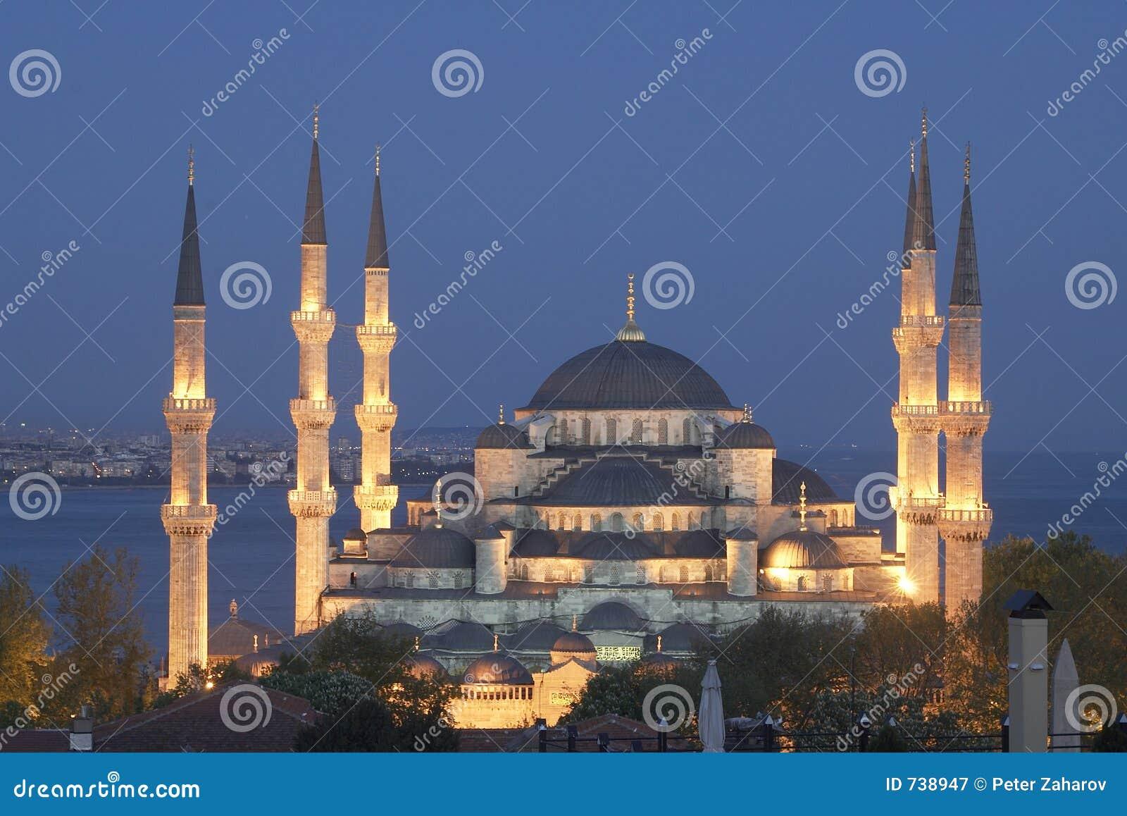 Mosquée principale d Istanbul - sultan Ahmet (mosquée bleue) à l ev tôt