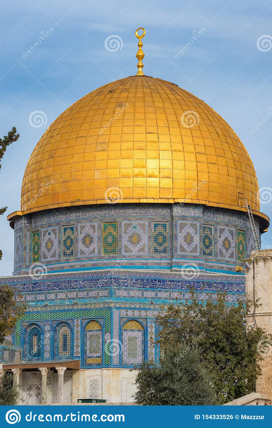Mosque Of Al-aqsa Or Dome Of The Rock In Jerusalem, Israel ...