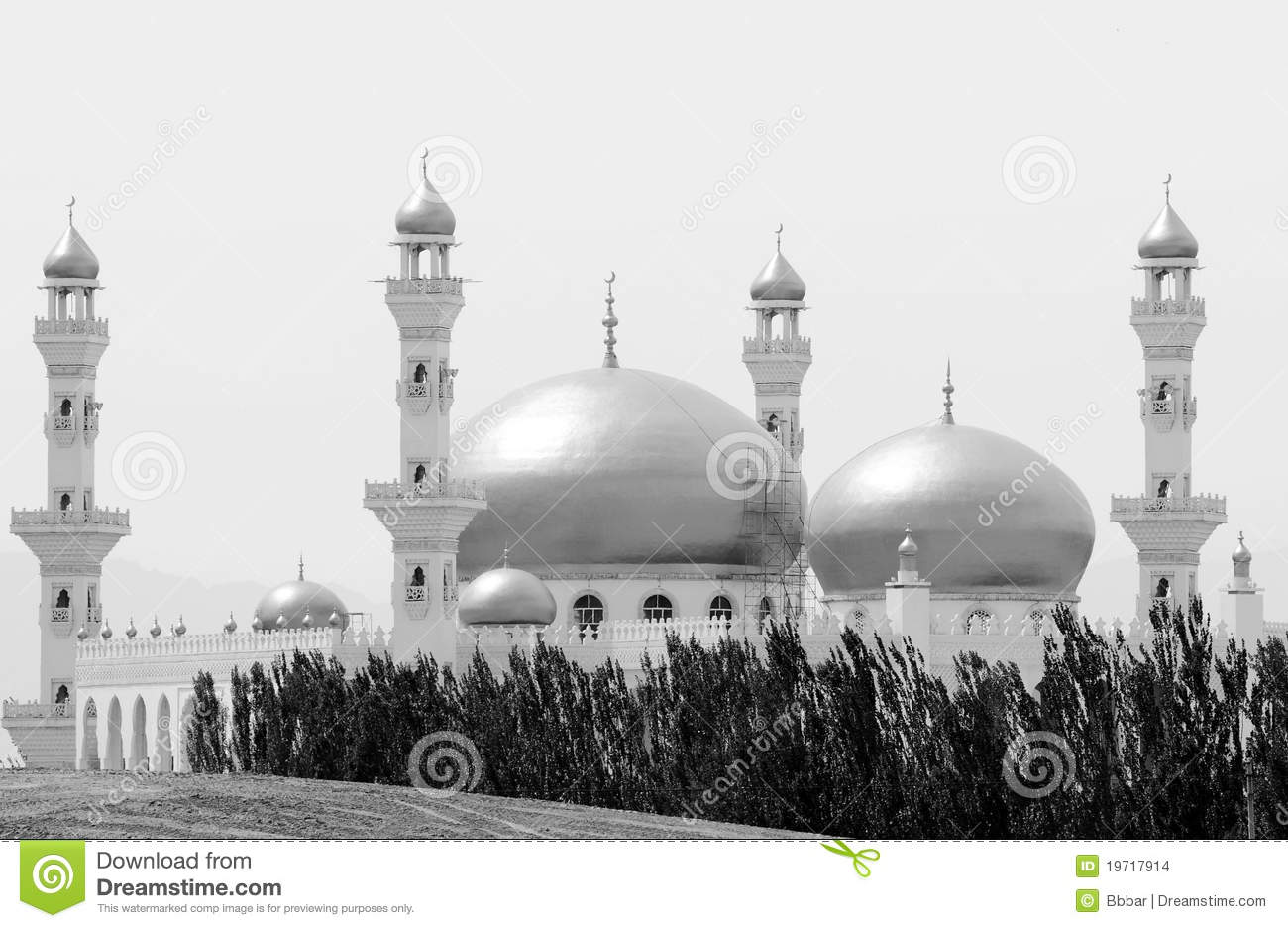 Mosque In Black And White Stock Photo Image Of Beautiful