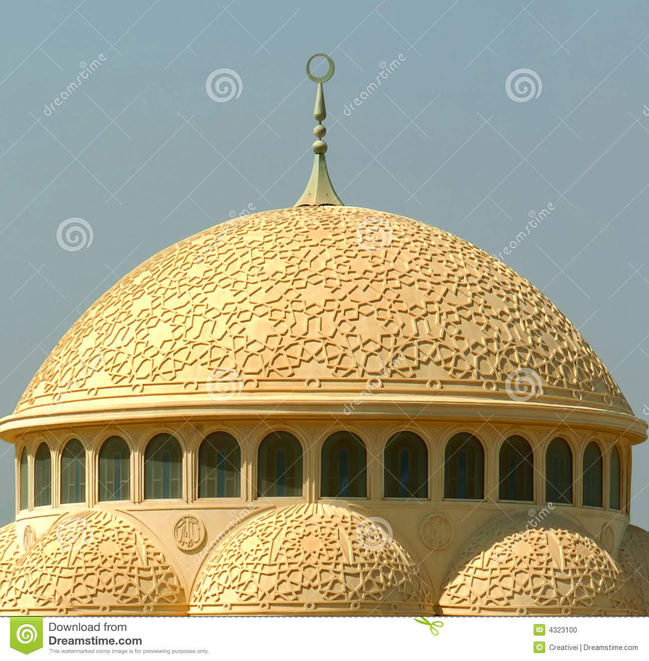 Mosque Dome stock photo. Image of islam, mosque, moslem ...